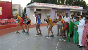 Skating, basket ball and jogging track at N-3, Cidco made from MLA funds of Rajendra Darda.