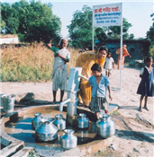 Borewell and hand pump provided through MLA Fund of Rajendra Darda.