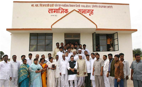 Community Hall built from MP Vijay Darda's funds.