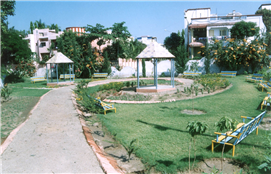 Garden developed through MLA Fund of Rajendra Darda near Salim Ali Lake.