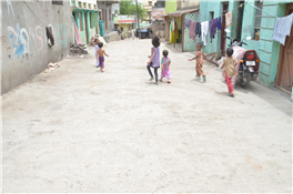 Road constructed in Chishtiya Colony through MLA Fund of Rajendra Darda.