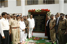 MLA Rajendra Darda with home minister Jayant Patil at the inauguration of Bharat Battalion complex, Satara Tanda, Aurangabad July 5, 2009