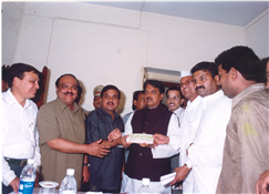 Rajendra Darda with Chhagan Bhujbal, R R Patil and Vilasrao Deshmukh.