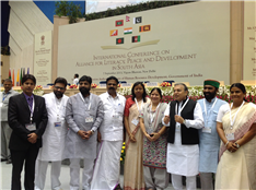 Rajendra Darda with education ministers from different states of India at the International Conference on Alliance for Literacy, Peace and Development.