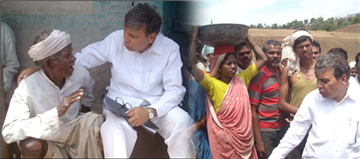 As Guardian Minister Amravati, Rajendra Darda with Adivasis in Melghat…